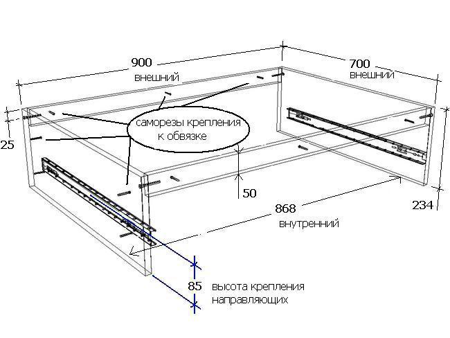 Схема двуспальной кровати трансформер