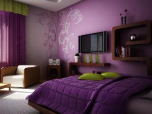Фото обоев в спальне