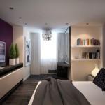 Фото интерьера спальни-гостиной