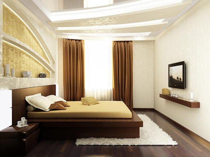 Прямоугольные спальни дизайн фото