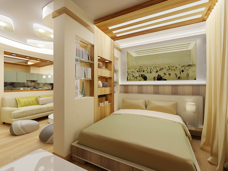 Дизайн вітальні спальні