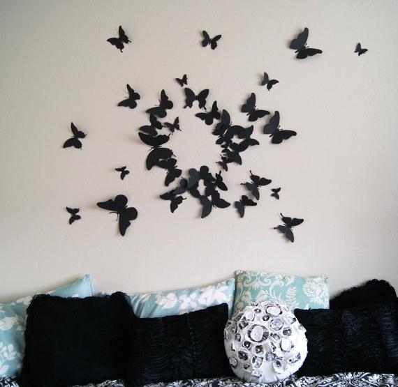 Декор бабочки на стене как сделать своими руками