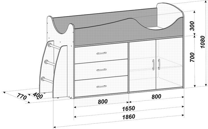 Схемы кровати чердака