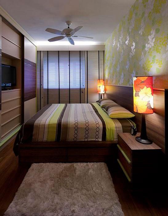 Дизайн для узкой и длинной комнаты