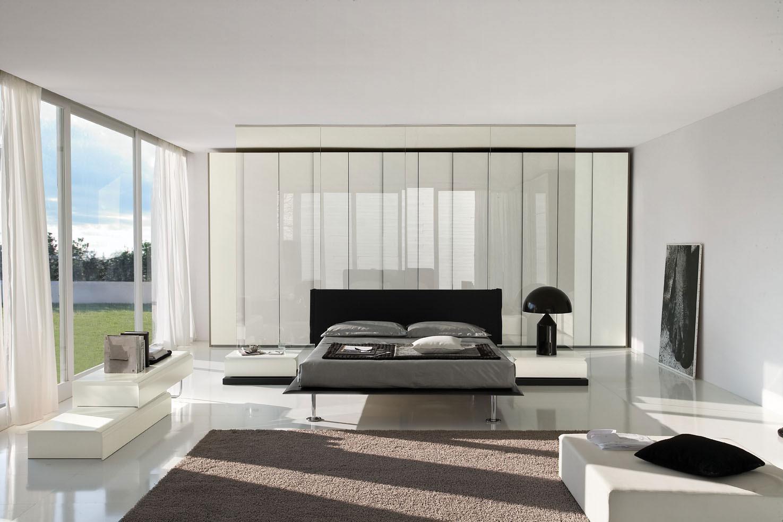 Шторы для спальни в стиле хай-тек дизайн