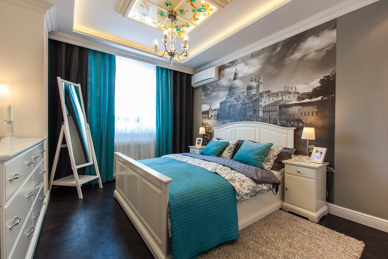 Ремонт спальни 9 квм своими руками фото обои два цвета 93