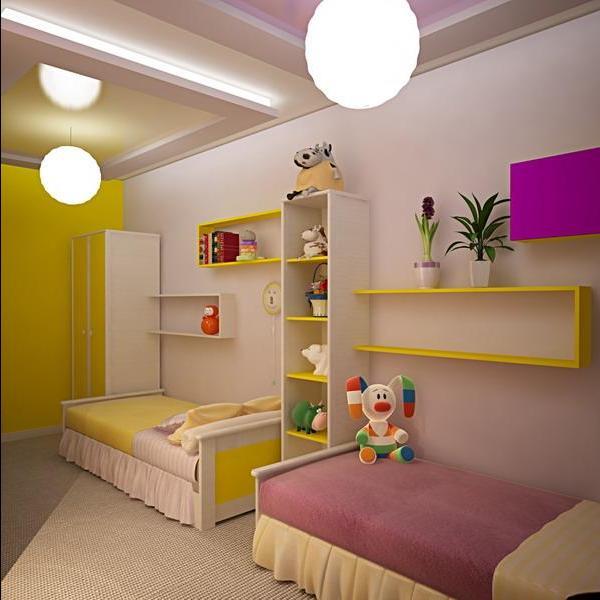 Дизайн спальни на двоих девочек