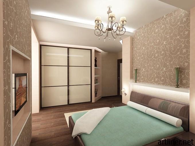 Дизайн спальни фото в бежево-коричневых тонах