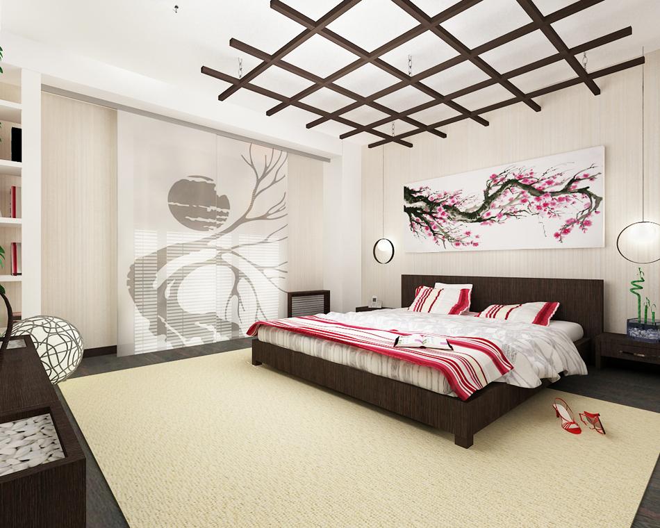 Дизайны спален в японском стиле