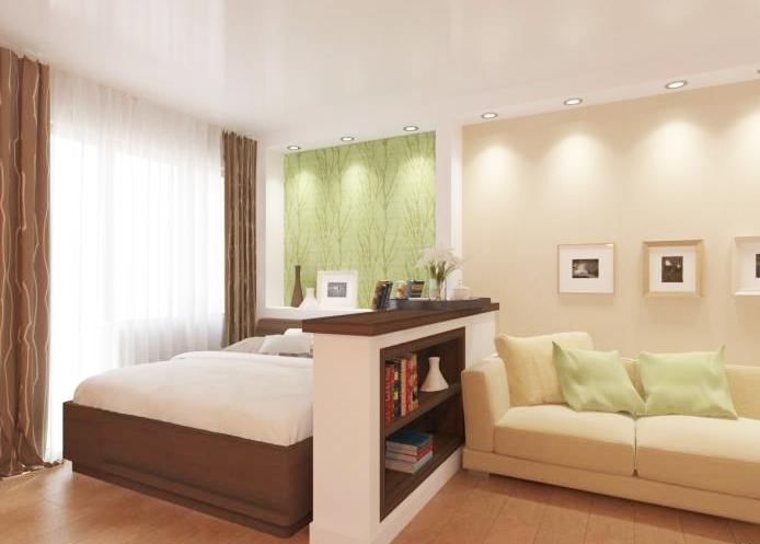Дизайн зала-спальни 16 кв.м