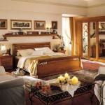 Полки над кроватью для спальни